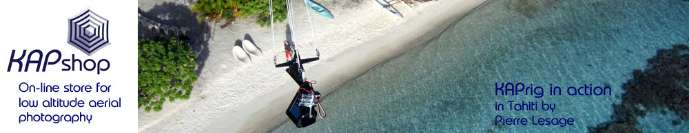 Online store - webshop for aerial photography using kites (KAP), balloons (BAP) or poles (PAP)!